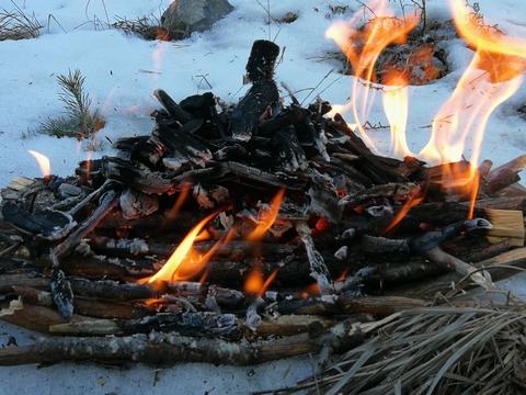 feu indien neige decouverte yakasurvie