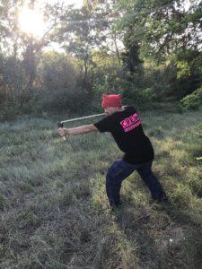 Lance pierre position de tir - Yaka Survie -